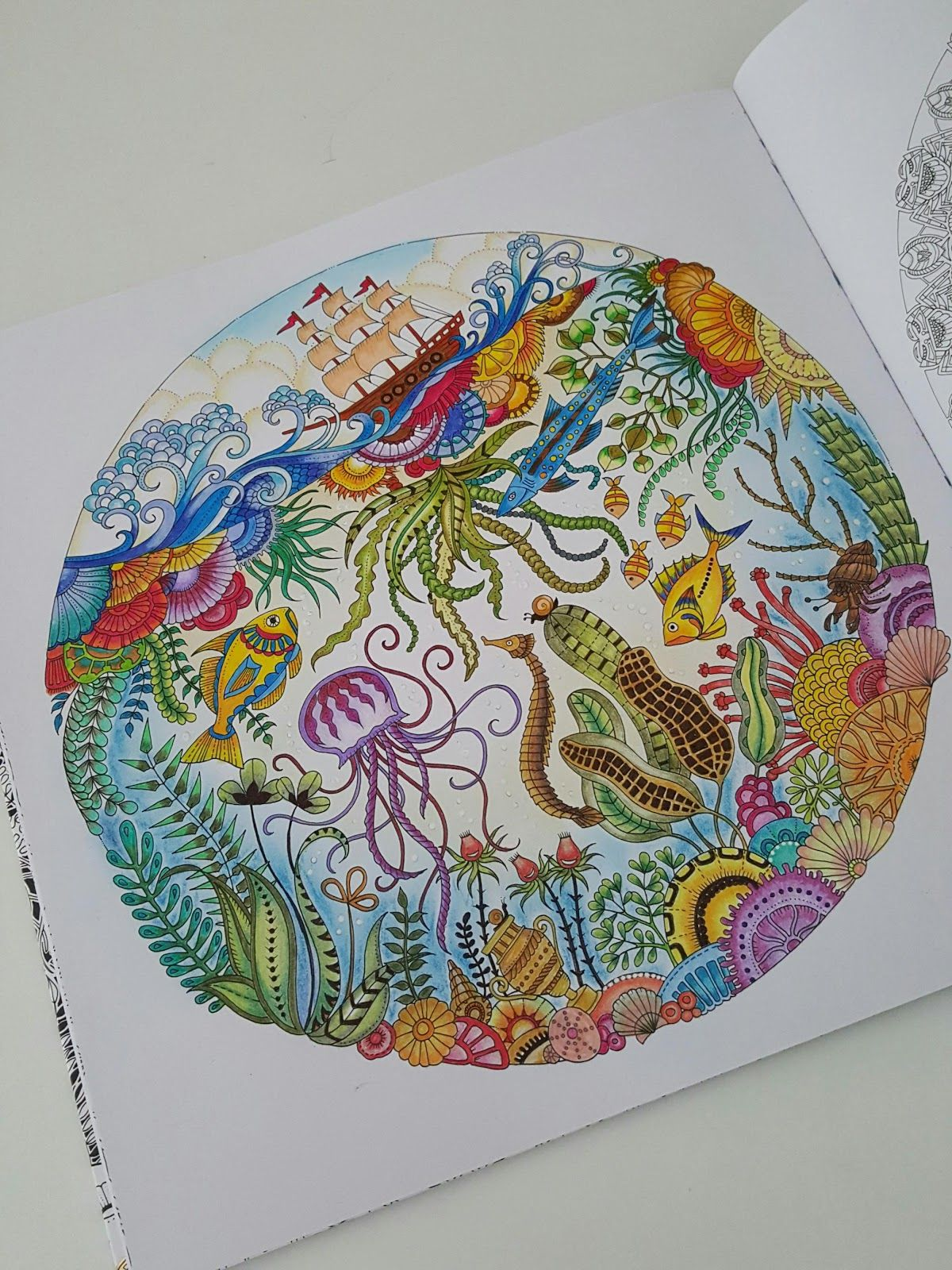 Using Faber Castell And Colleen 60 Double Tip Colour Pencils Second Photo Lost Ocean Coloring Book Johanna Basford Coloring Book Johanna Basford Lost Ocean