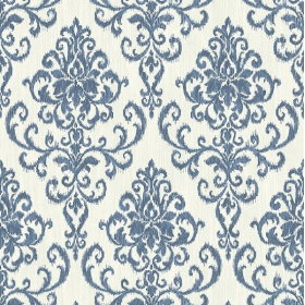 Wallpaper :: Paper & Ink Wallpaper Books :$208, 68cm x 8metres: Indigo - 15 Designs :: Classic Damask - Ivory Tower Decor