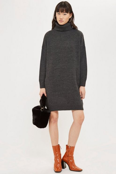 Products In Ribbed 2019 Jumper Neck Womens Charcoal Roll zUHwxX
