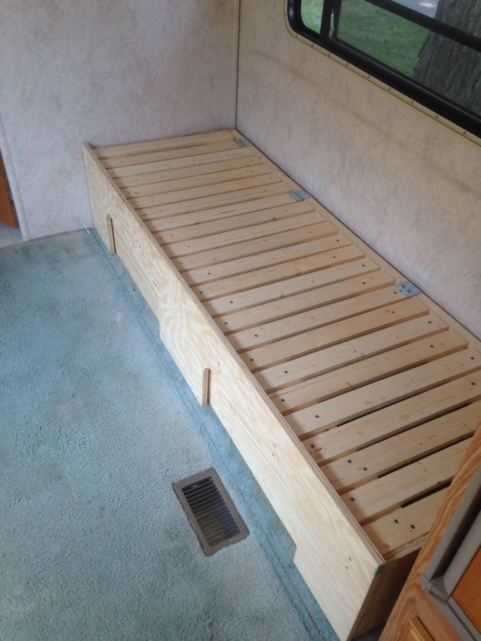 DIY Camper Couch/Bed with storage. Photo 1 Remodeled
