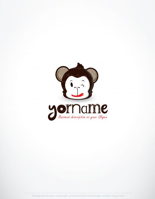 Exclusive design funky monkey logo compatible free business card monkey logo design reheart Images