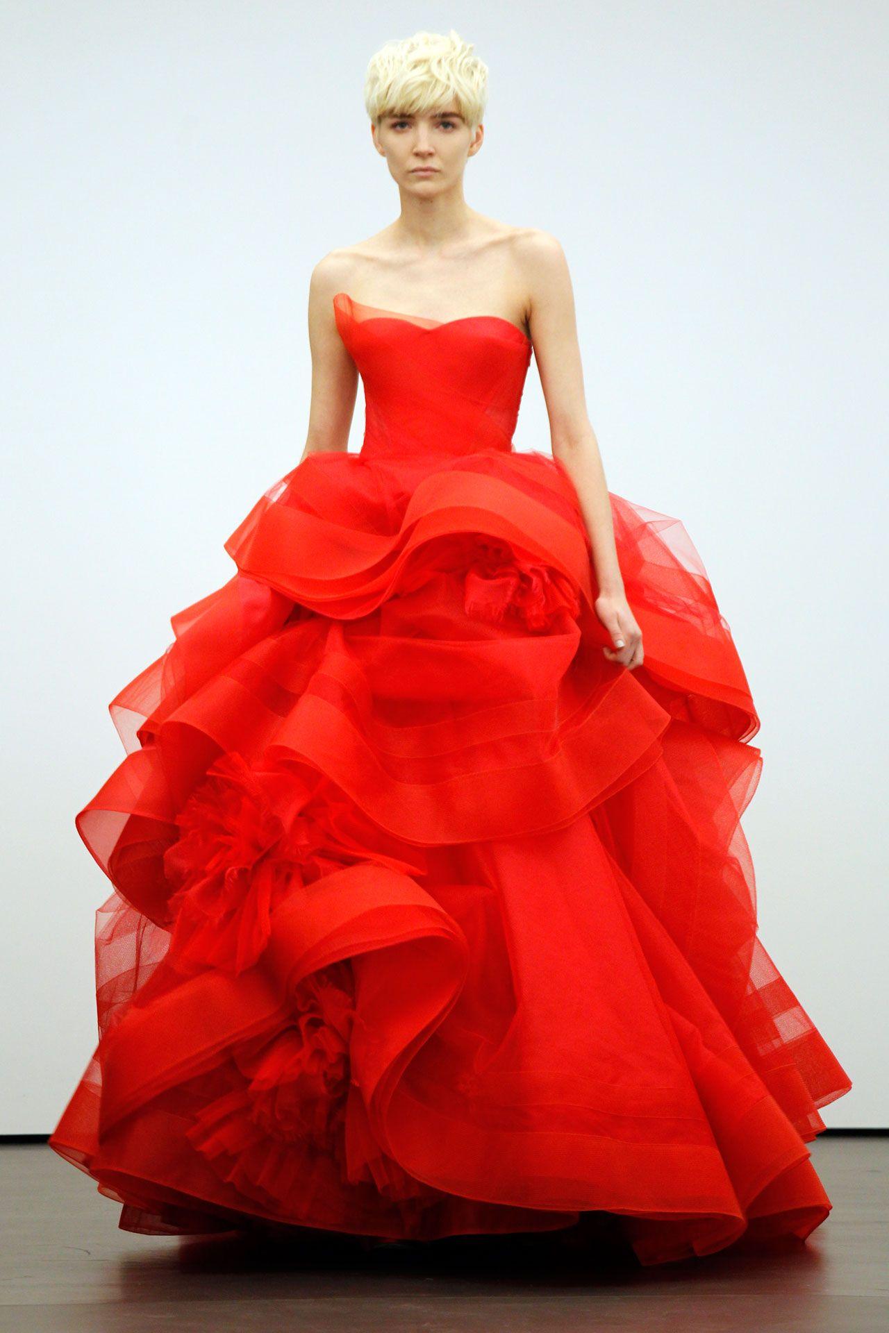 Red wedding dresses vera wang  Wedding Dresses  The Ultimate Gallery BridesMagazine  red