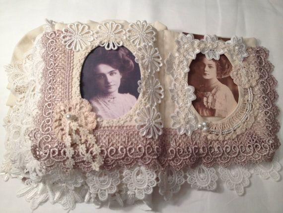 Fabric Lace Photo Memory Album Fabric Memory door Darlinghomemade