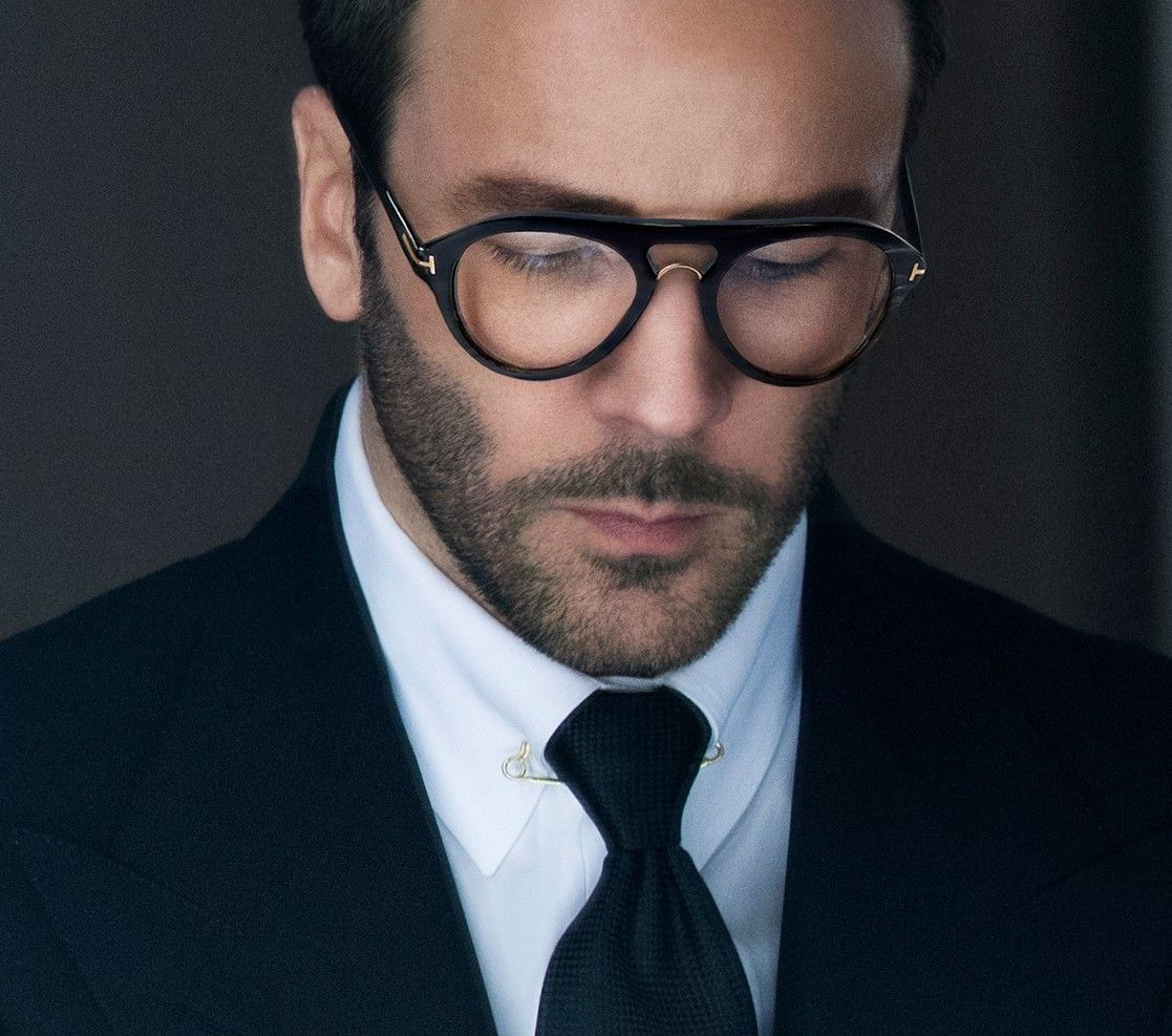 8928e1e8c Tom Ford- It is a rare thing to see Ford ( himself) with his Eyewear on -  other than sunglasses.