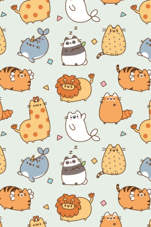Pusheen Wallpaper Pusheen In 2019 Pinterest Iphone Wallpaper