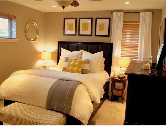 How to Decorate a Small Bedroom | Black furniture, Gray and Walls