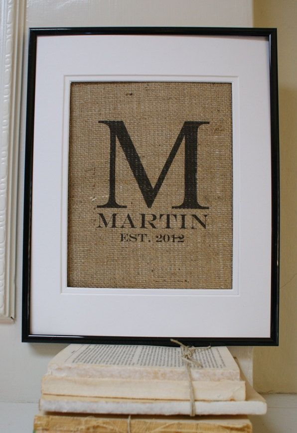 Now this is wedding decor i would actually hang in my house. ORIGINAL Modern Monogram with Name and Est Date