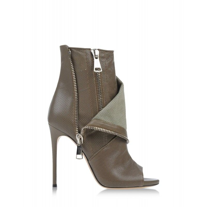 feb52c172d30 Casadei Perforated Peep-Toe Ankle Boot