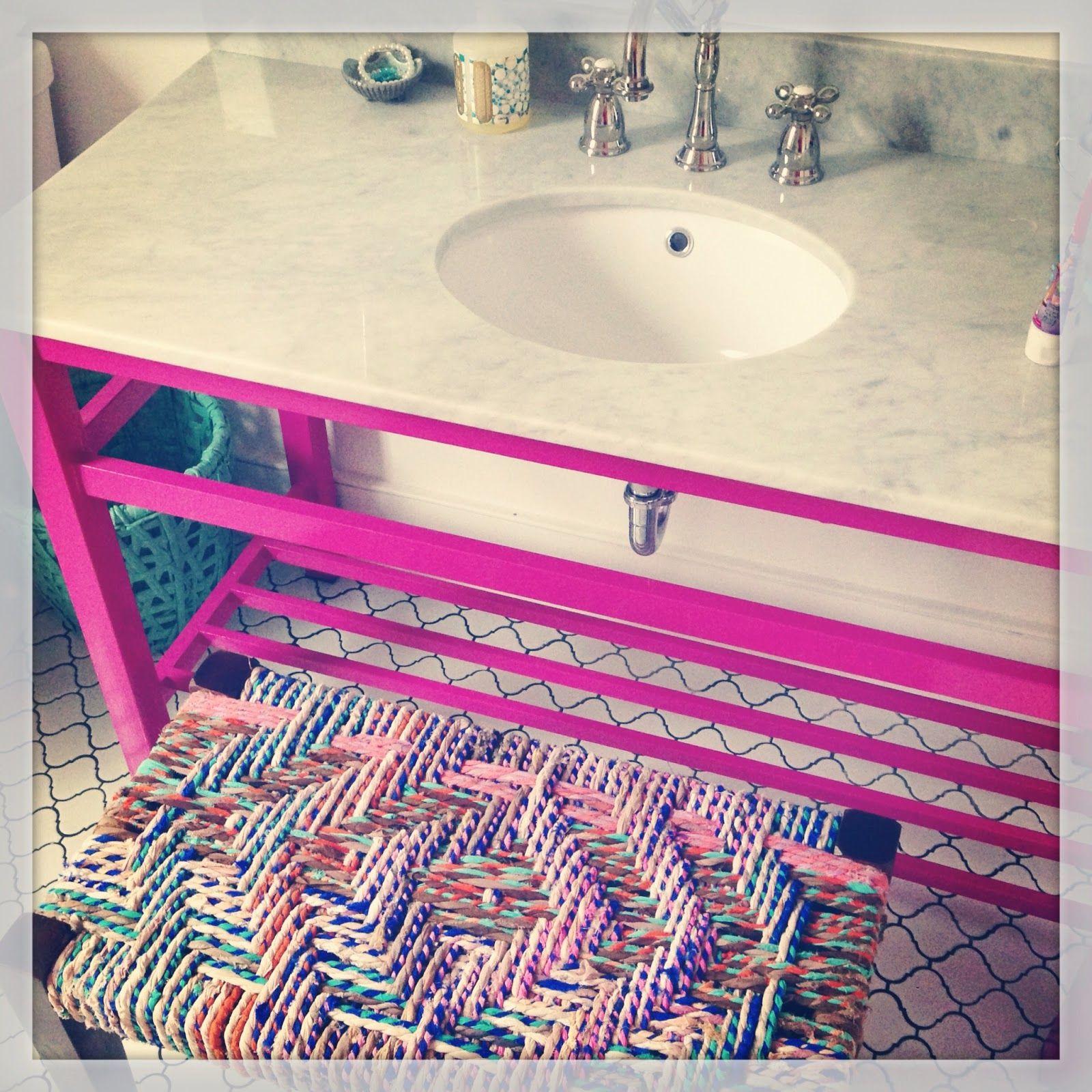 Fun S Bathroom With Cute Floor Tile Black Grout Look Linger Love