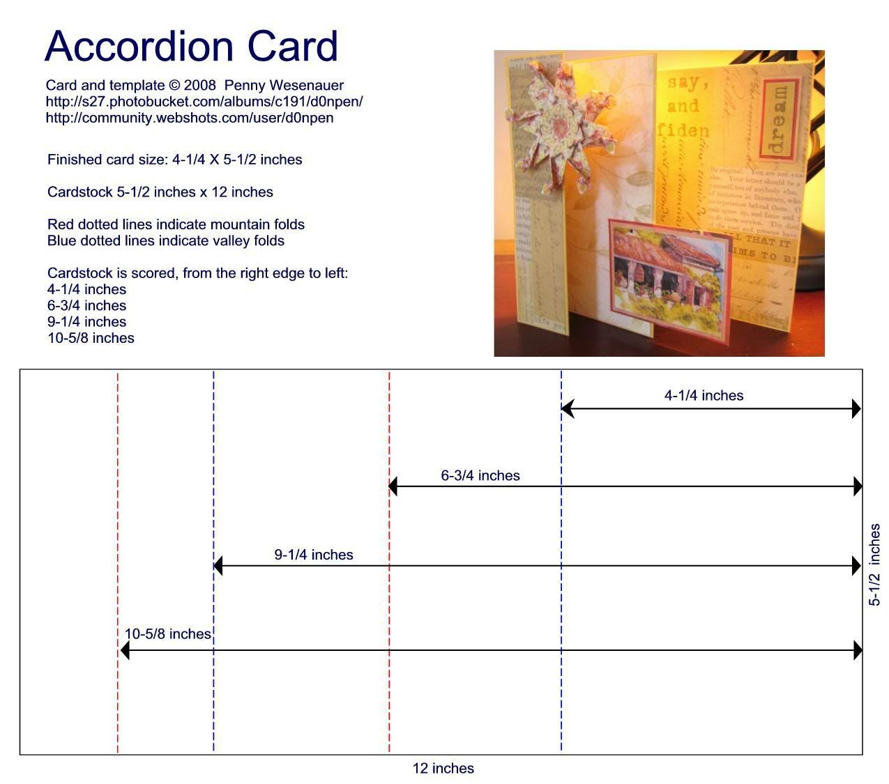 Accordion Card Template Pictures Images Photos Photobucket Accordion Cards Card Templates Card Making Tutorials