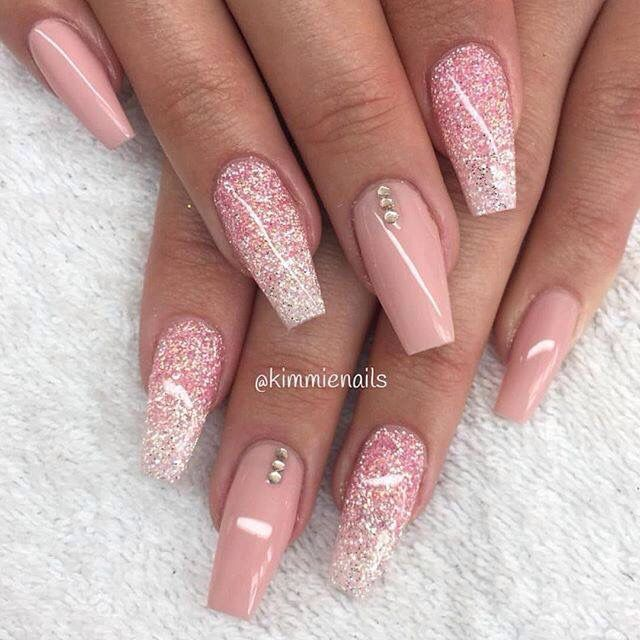 130 cute acrylic nails art design inspirations cute acrylic full set acrylic nails like the design would be great for a wedding bridesmaids maid of honor bridess mother or grooms mother prinsesfo Gallery