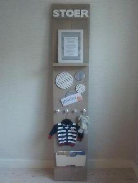 Kraamkado  baby kinderkamer accessoire steigerhout