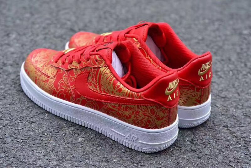 NIKE AIR FORCE 1 PREMIUM CHINESE LUNAR NEW YEAR RED GOLD