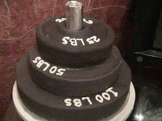 Weightlifting Stacks Grooms Cake This Was A Fun Creation