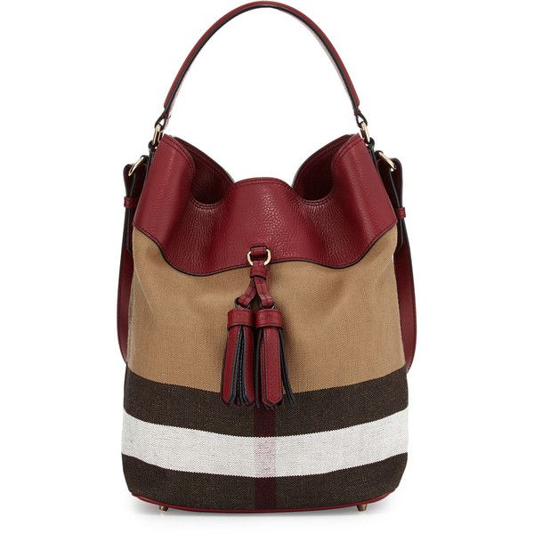 727bea6cc825 Burberry Ashby Medium Unstructured Check Leather Bag (6