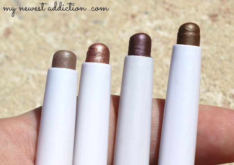 Mally Evercolor Shadow Sticks in Taupe, Copper Rose, Plum