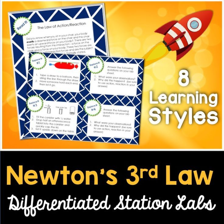 Newton S Laws 3rd Law Kesler Science Station Labs Science Stations Kesler Science Newtons Laws