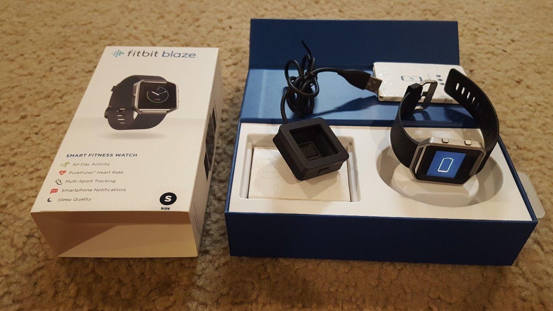 68c8261f4ddde Fitbit Blaze Smart Fitness Watch - size small - Black