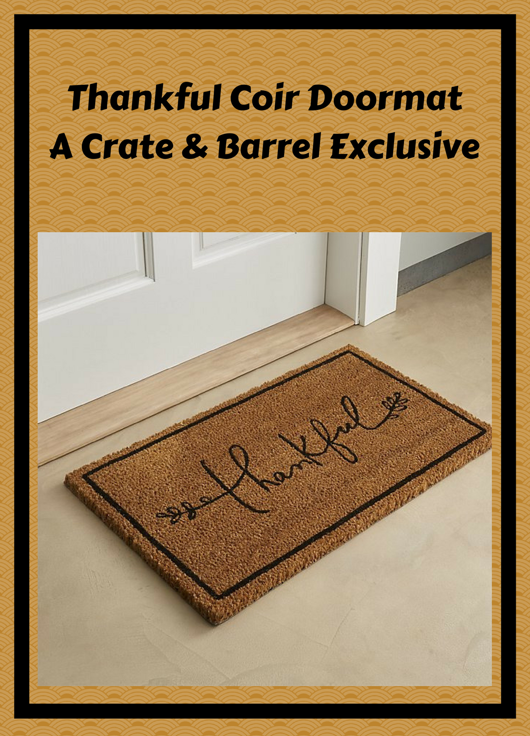 A simple thankful doormat great for fall and for greeting your a simple thankful doormat great for fall and for greeting your guests at thanksgiving kristyandbryce Images
