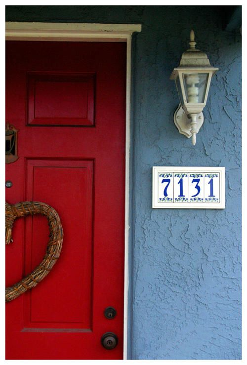 red brick houses with blue and gray trim images |  my house was