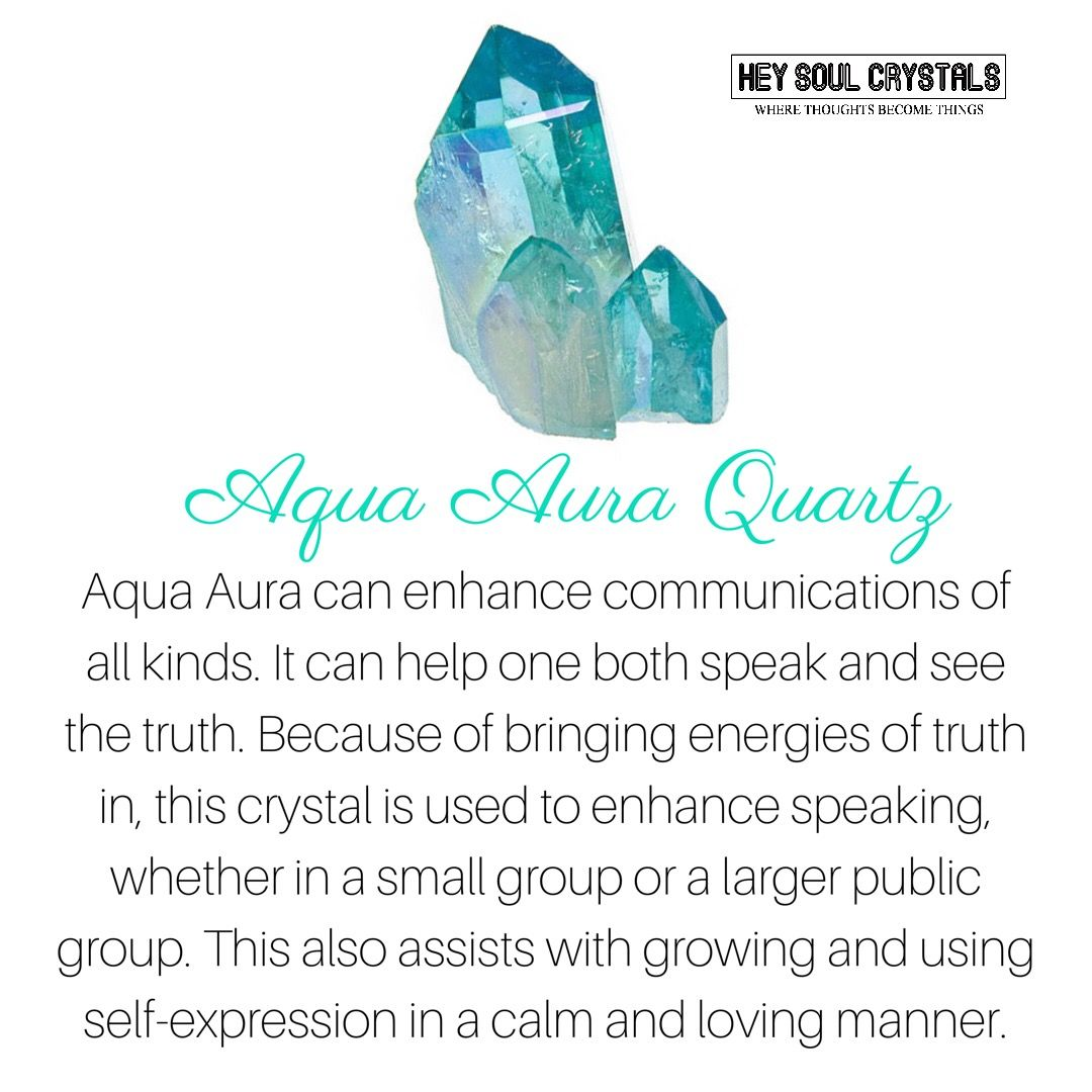 Aqua Aura Quartz Crystal Meaning Crystalmeanings Crystal