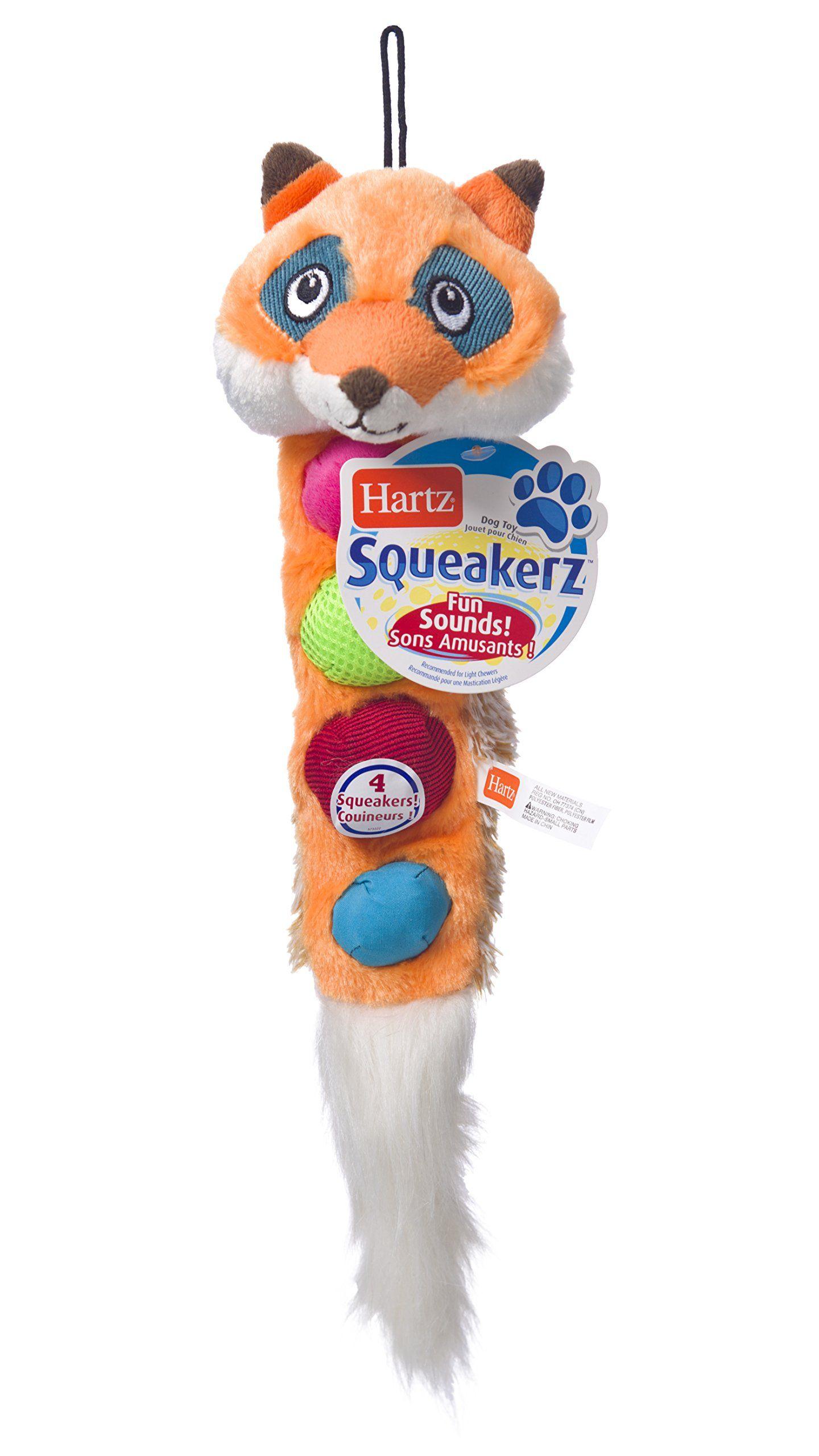 Hartz Squeakerz Stuffingfree Plush Woodland Animal Dog Toy You