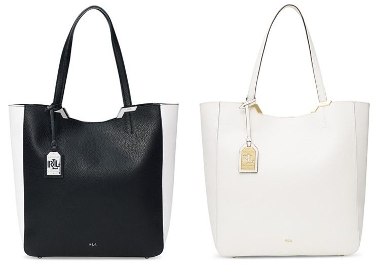 Lauren Ralph Acadia Tote Luxury Vegan Handbags Bags