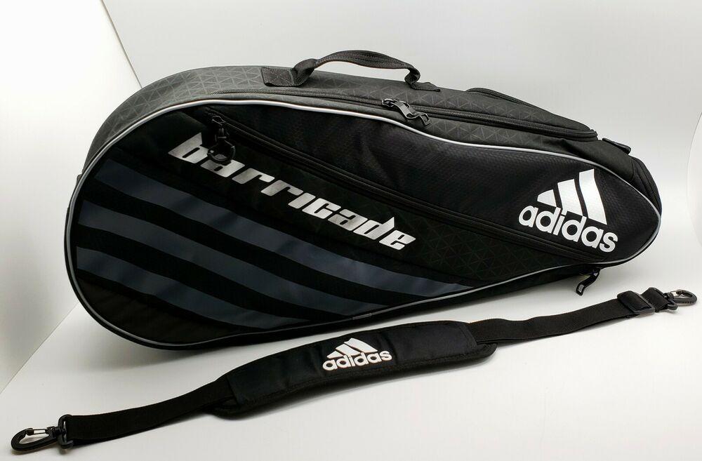 Adidas Barricade Iv Tour 3 Tennis Racquet Bag Gray Black 104630 B Adidas Racquet Bag Tennis Racquet Bag Adidas Barricade