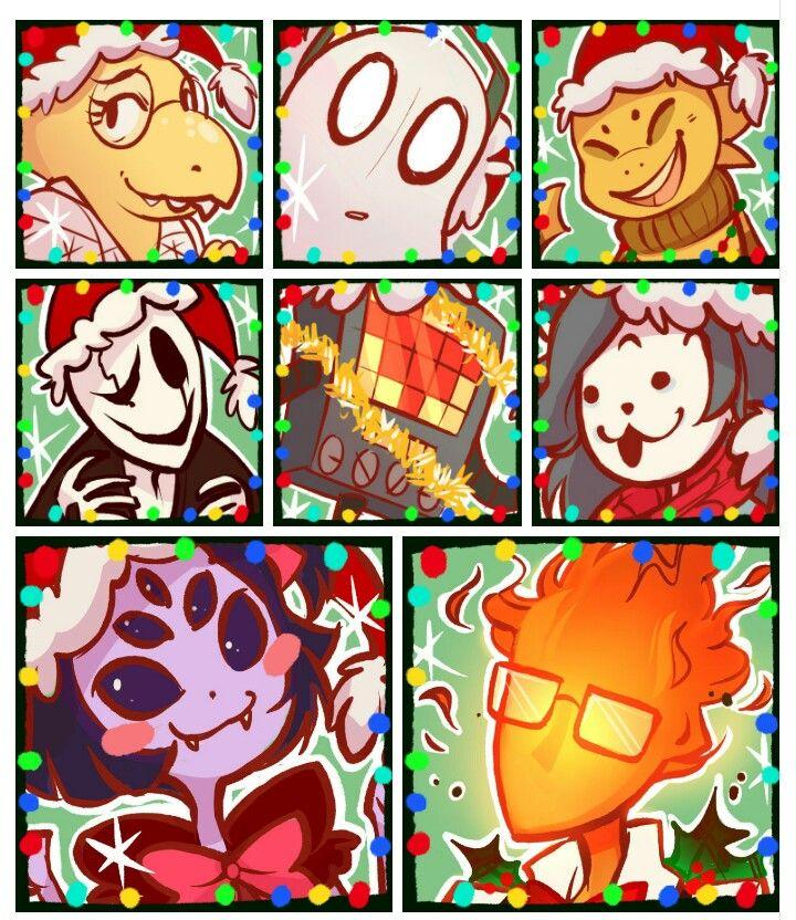 Undertale Christmas.Undertale Christmas Icons Dear God So Many Icons And She S