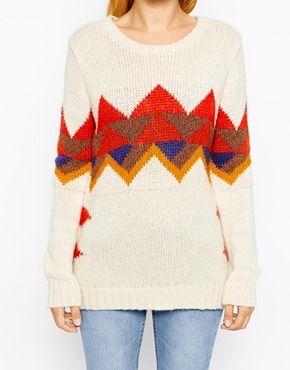 Enlarge Hilfiger Denim Sweater With Geo-Tribal Intarsia Detail