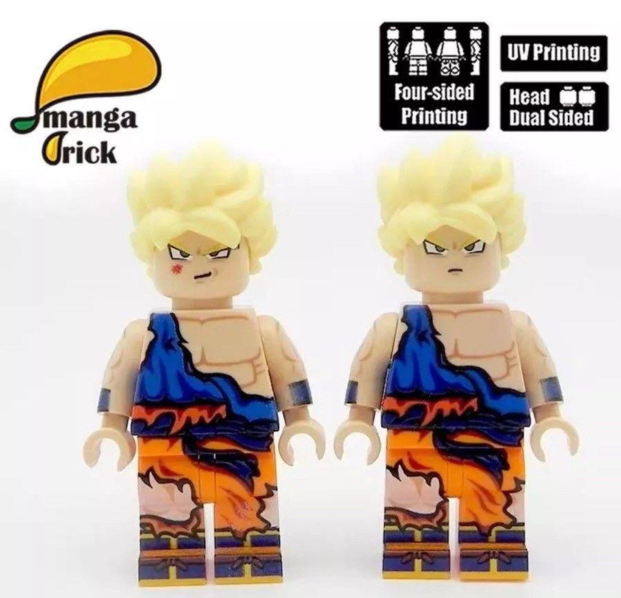Damaged Goku Dragon Ball Lego Mini Figures