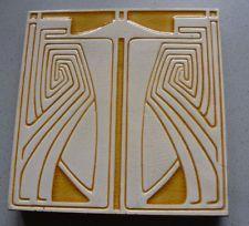 Peter Behrens Villeroy Boch Jugendstil Fliese Kachel Art Nouveau
