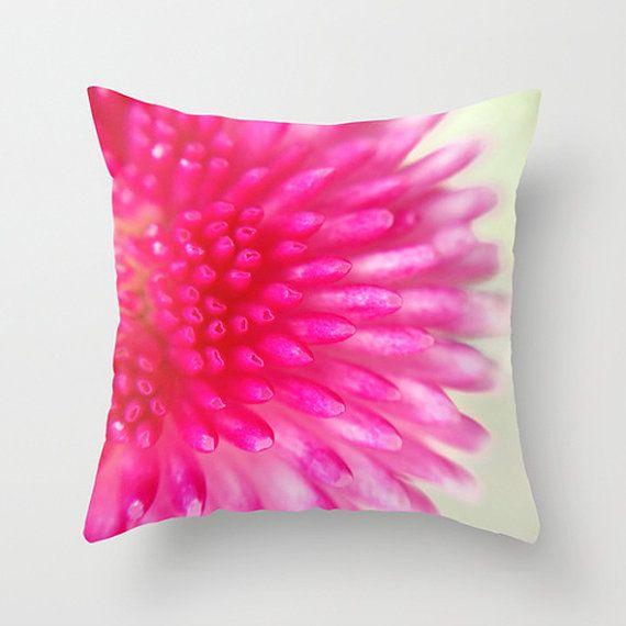 Hot Pink Pillow Hot Pink Cushion Flower Pillow Flower Cushion Pink Decor Throw Pillow Throw Cushion Pillow C Pink Cushions Pink Pillows Hot Pink Pillows