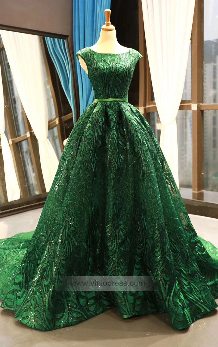 Sparkly Emerald Green Lace Prom Dresses Burgundy Formal Dress Fd1157 Cap Sleeve Prom Dress Burgundy Formal Dress Green Ball Gown [ 1200 x 756 Pixel ]