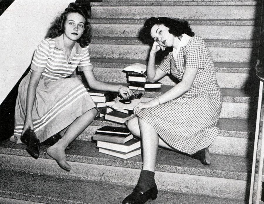 Two 1940s College Gals