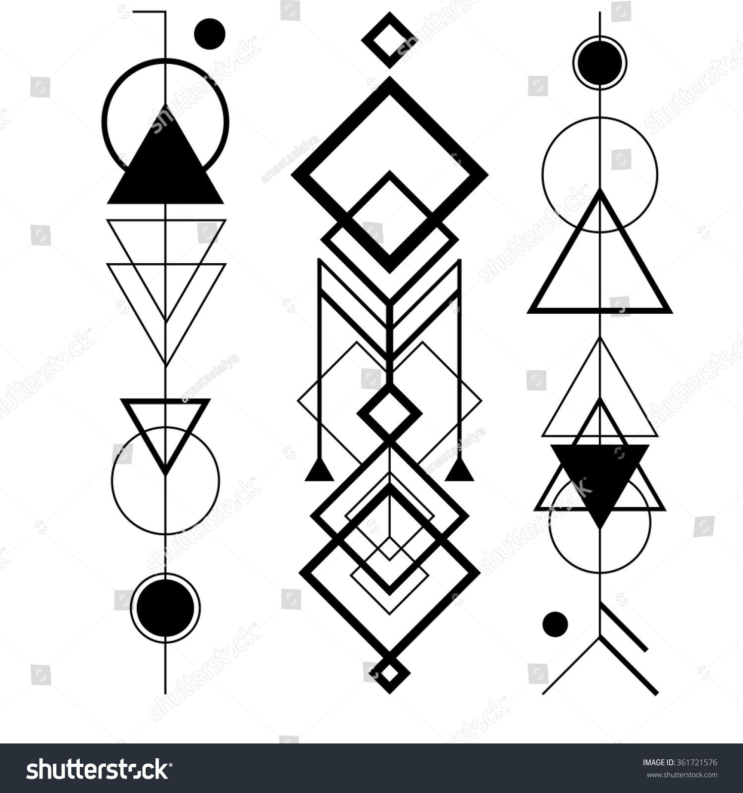 This elegant and simple shapes are