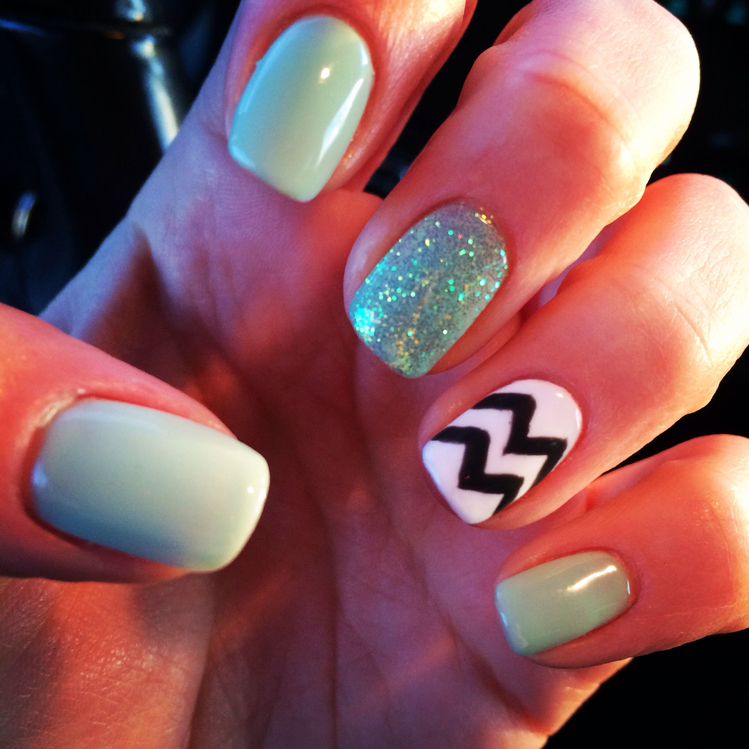 nail design shellac chevron nails pinterest