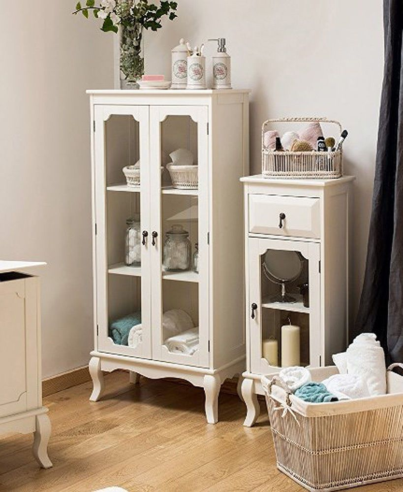 Details About French Display Cabinet Shabby Chic Furniture White
