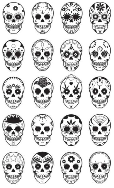 Day Of The Dead Skull Tumblr Skull Tattoo Design Candy Skull Tattoo Simple Skull