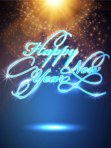 Happy New Year Card 2021 Design