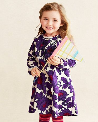 Woven Floral Dress by Pink Chicken - Girls