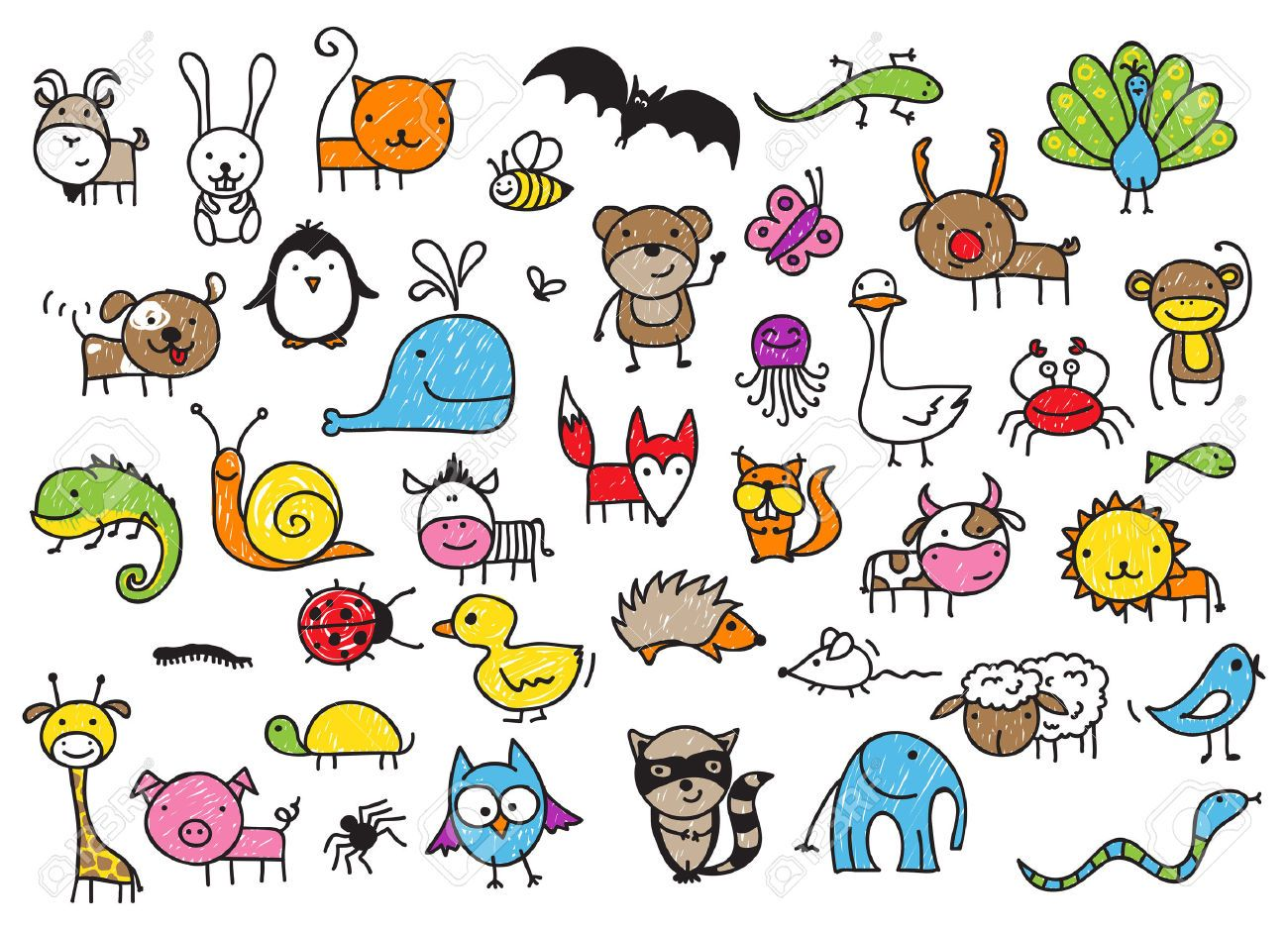 doodle animals Google Search Childrens drawings