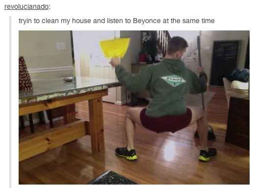 Because they're man enough to admit who run the world. It's Bey.