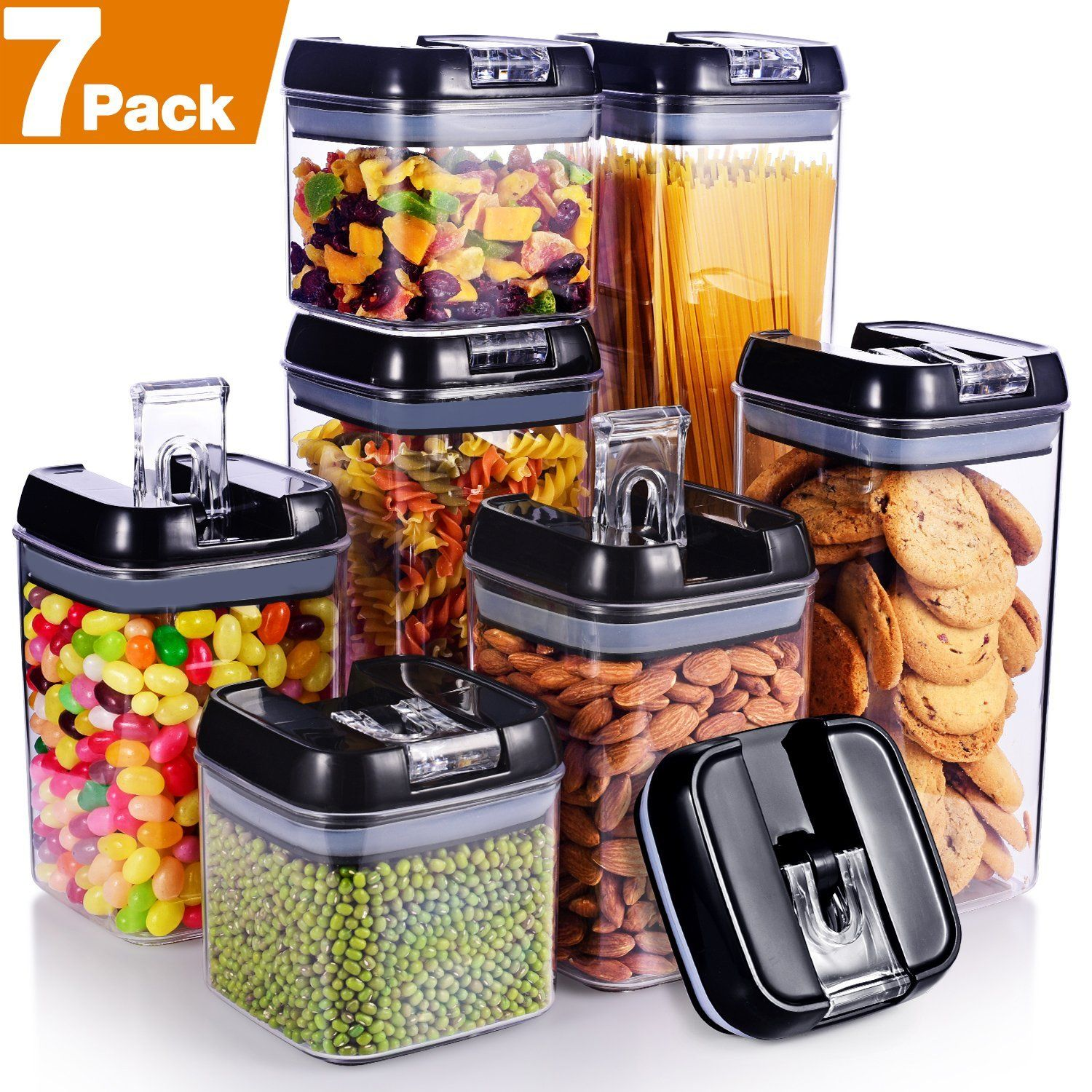 Amazon : [7-Piece] Air-Tight Food Storage Container Set Just ...