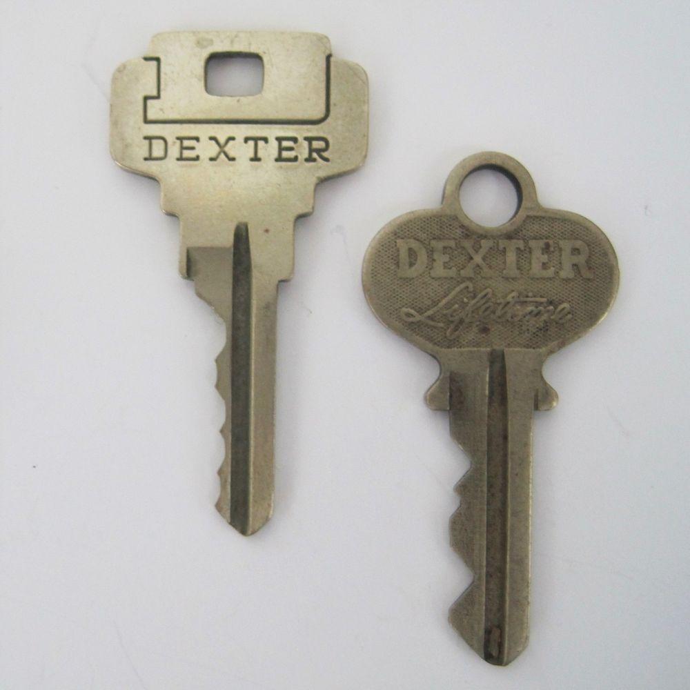 Vintage Keys Dexter Lifetime 8153 Door Lock And Big D Deadbolt Key Lot Of 2 Vintage Keys Deadbolt Mens Accessories