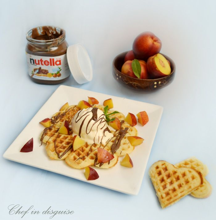 Cornmeal ricotta lemon waffles « Chef in disguise