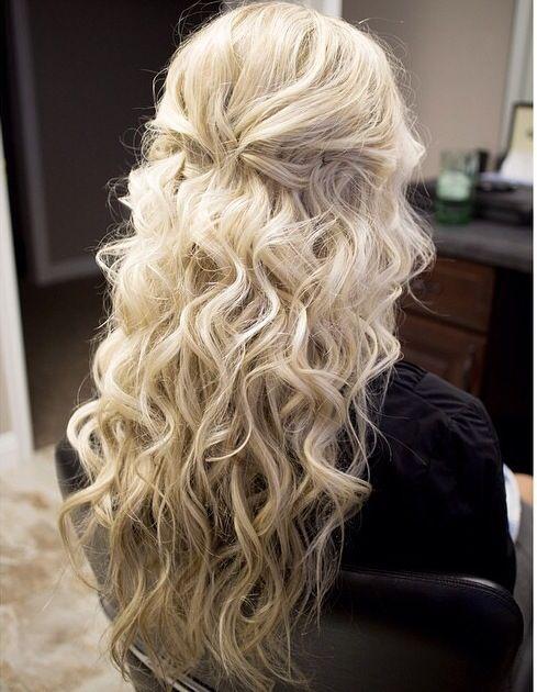 Beach Waves And Half Up Half Down Hair Styles Hair Curly Hair Styles