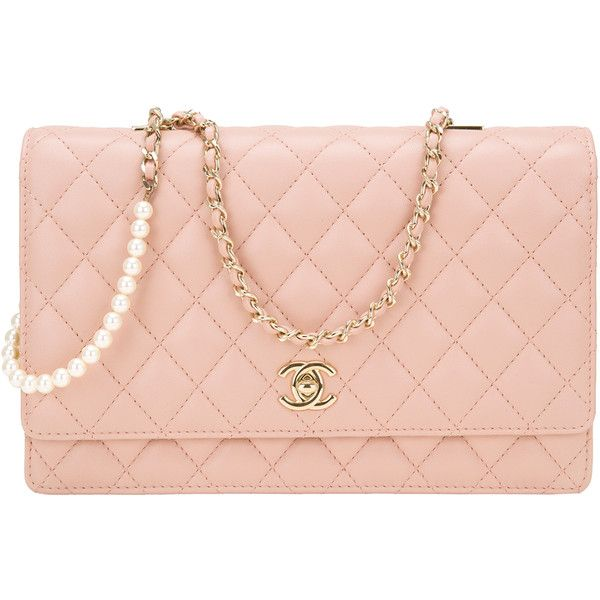 08ae99381d6d Pre-Owned Chanel Nude Lambskin Fantasy Pearls Large Evening Flap Bag  ($5,225) ❤ liked on Polyvore featuring bags, handbags, chanel, beige, flap  crossbody ...
