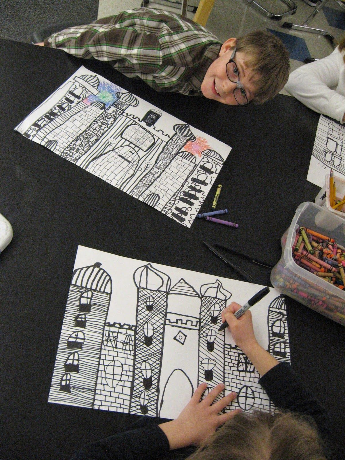 Jamestown Elementary Art Blog 2nd Grade Castle Architecture