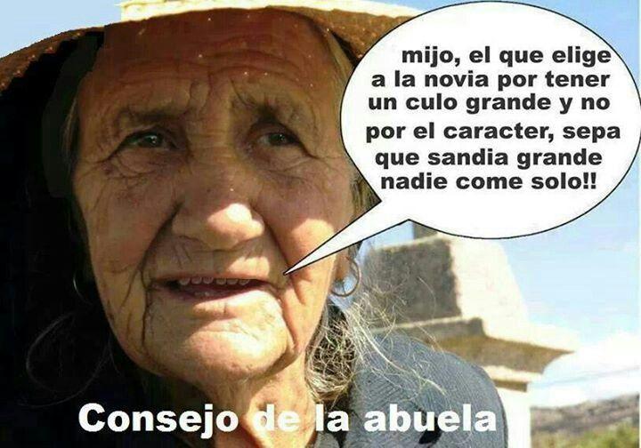 La abuela tiene razon
